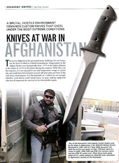 Knives at War in Afghanistan